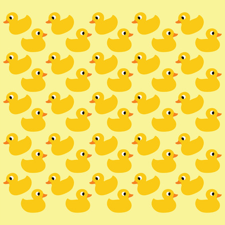 vector ducks seamless pattern