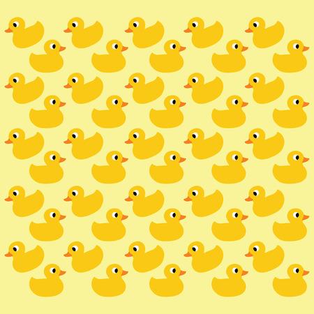 duck silhouette: vector ducks seamless pattern