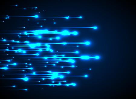 Blauwe neon licht stralen. Abstracte gloeiende achtergrond. Stock Illustratie