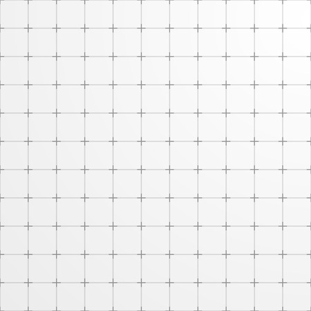 白の正方形グリッド背景。抽象的な幾何学的な背景。  イラスト・ベクター素材