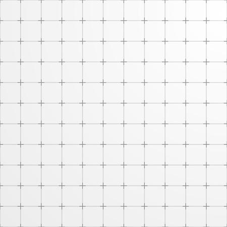 Witte vierkante raster achtergrond. Abstracte geometrische achtergrond. Stock Illustratie