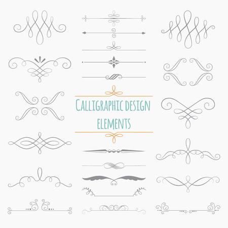 Graphic elements. Monogram on white background for design greetings, menus, wedding invitations. Illustration