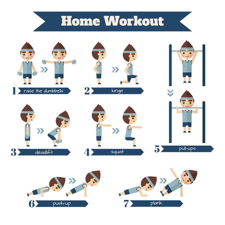 Deporte y fitness infografía. Conjunto de situaciones en las que las personas están involucradas en los deportes.