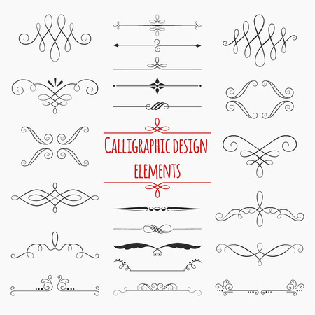 swirl border: Graphic elements. Set for weddings and celebrations.