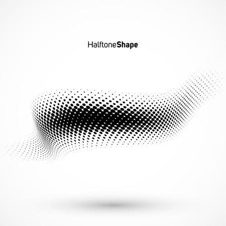 Abstracte geometrische achtergrond. Halftone achtergrond zwart en waite. Stock Illustratie
