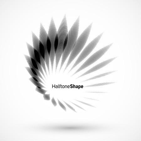 抽象的な幾何学的な背景。白い背景に複雑な幾何学的図形。  イラスト・ベクター素材