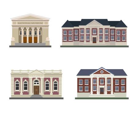 Maisons individuelles sur un fond blanc frontalement. Banque d'images - 38959533