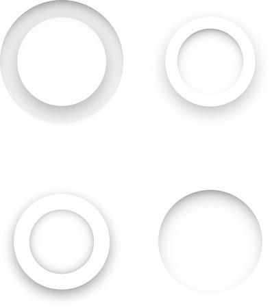 3d circle: 3d circle set. Circles on a white background.