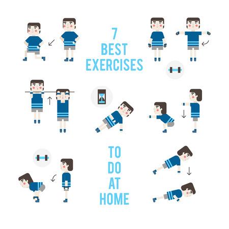 beginner: Set exercises without training apparatus. Beginner bodybuilder.