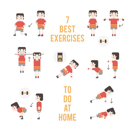 beginner: Beginner bodybuilder.  Set exercises without training apparatus.