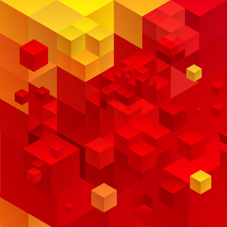 cubic: Cubic abstract background. Red background fantastic looking.