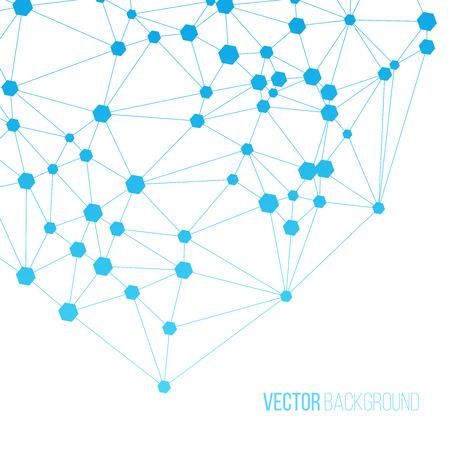デジタル接続の背景。白い背景の上の通信概念図。