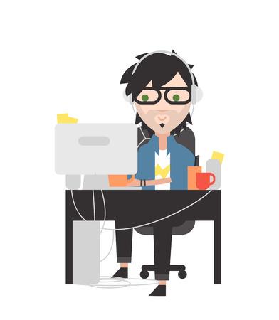administrador de empresas: Administrador de sistema. Genio de la informática en su lugar de trabajo.