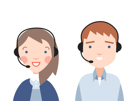 Call center operators. Sale of goods over the phone.