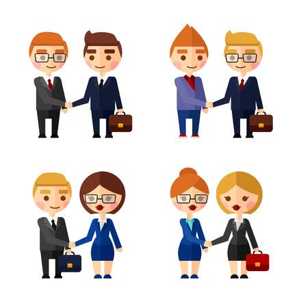 personas comunicandose: �xito de las negociaciones. Conjunto de personas que se comunican entre s�.