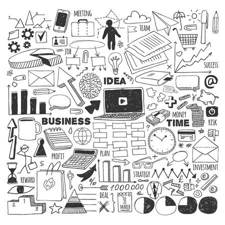 big business: Iconos lineales para web o iconos mobile.Linear para web o m�vil. Conjunto del gran negocio. Negro sobre fondo blanco.