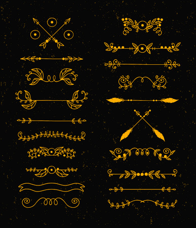 with sets of elements: Graphic elements calligraphic vector sets for designers.