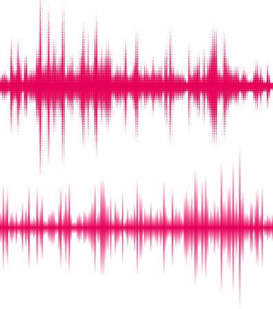 デジタル ピンク イコライザー。音波の振動。