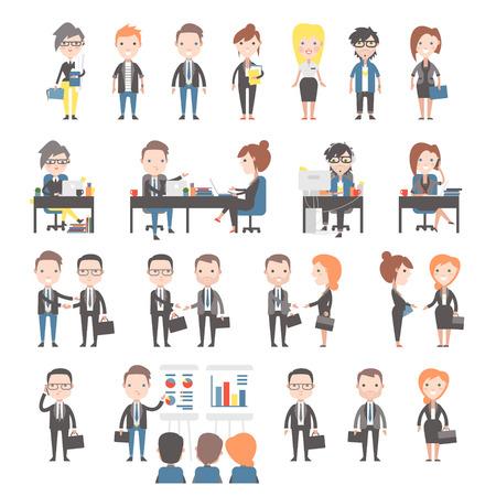 Grupo de los empresarios y de oficina. Establecer los trabajadores de oficina. Foto de archivo - 39537038