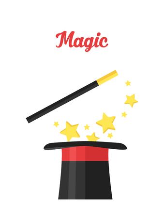 杖を持ったシルクハットの魔術師。魔法属性。