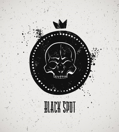 looting: Pirate black mark. The symbol of revolution on a pirate ship. Illustration