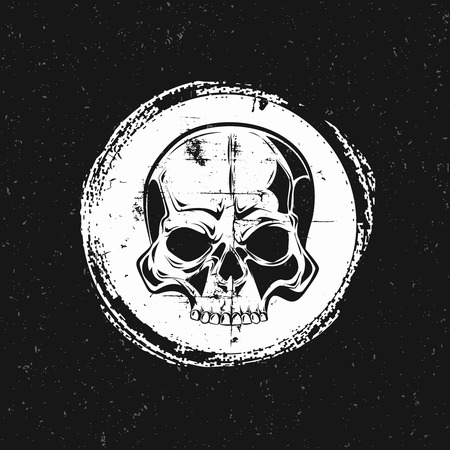 looting: Pirate mark. The symbol of revolution on a pirate ship. Illustration