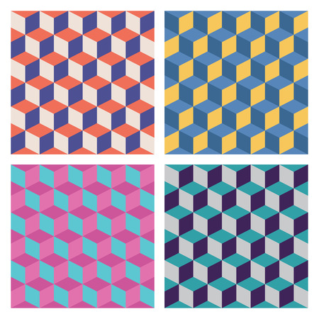 color 3d: Color 3D texture. Set of isolated patterns. Illustration