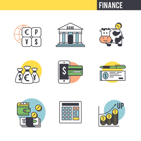 associated: The character set associated with the Finance. Many characters on a   white background.