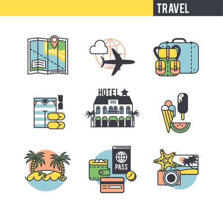 Concept expenses. Set of icons on white background. Illustration