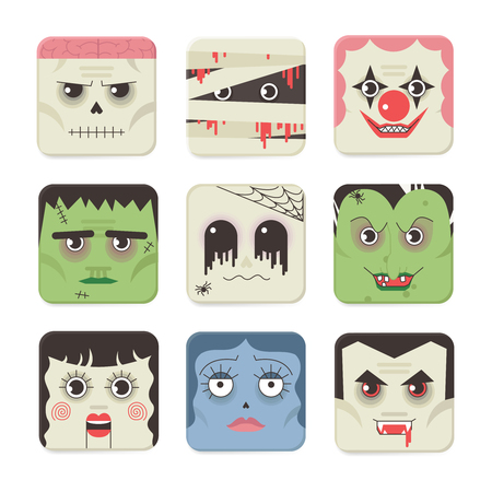 tratar: Set Trick or Treat Poster Cards