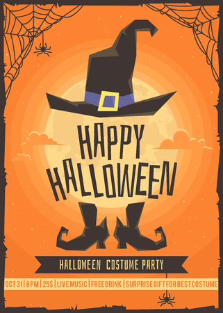 halloween backgrounds: Halloween costume party. Poster for the costume party.