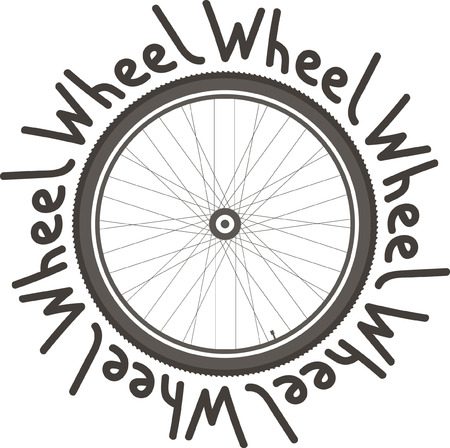 Bicycle Wheel logo. On a light background with the words.