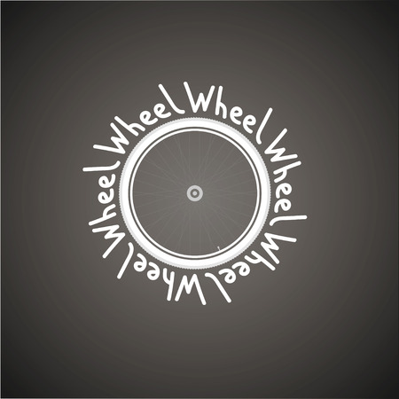 Bicycle Wheel logo. On a dark background with the words.