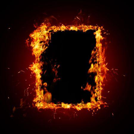 hot frame: Fire frame