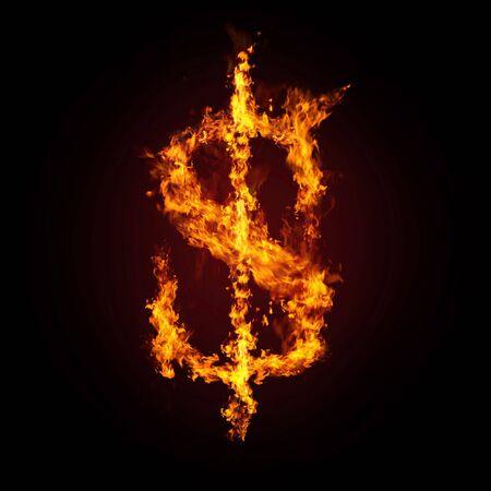 fire letter: Financial crisis. Dollar in fire