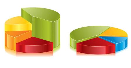 Set of colorful circular diagrams
