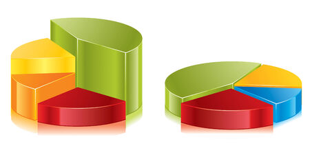 public market sign: Set of colorful circular diagrams