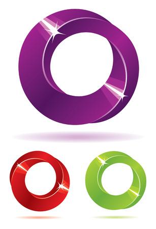 infinito simbolo: Set di mebius strisce