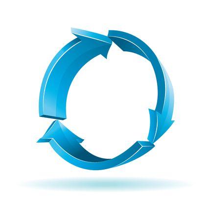 3D blue arrows. Иллюстрация