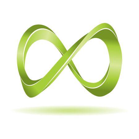 infinito simbolo: Simbolo di infinito astratta. Illustrazione vettoriale