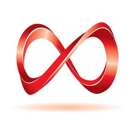 infinito simbolo: Segno rosso infinito