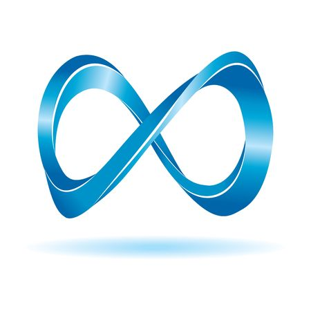 Blue infinity sign Vector