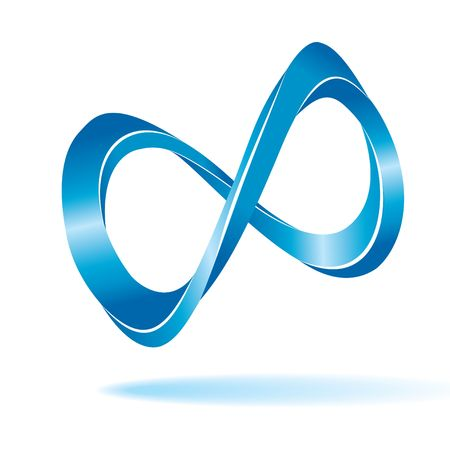 Blauwe oneindigheid teken