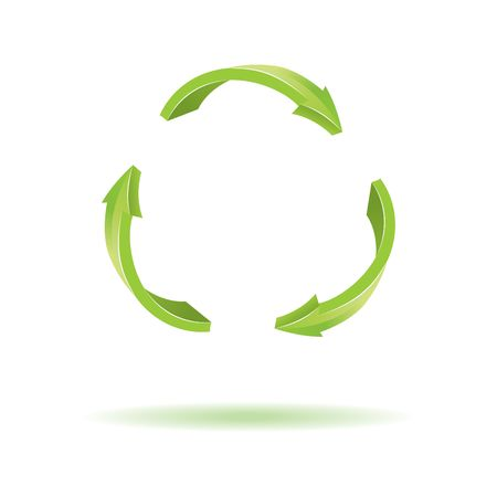 circling: 3D Arrows. Recycle symbol Illustration