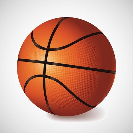 canestro basket: Palla da basket Vector Vettoriali