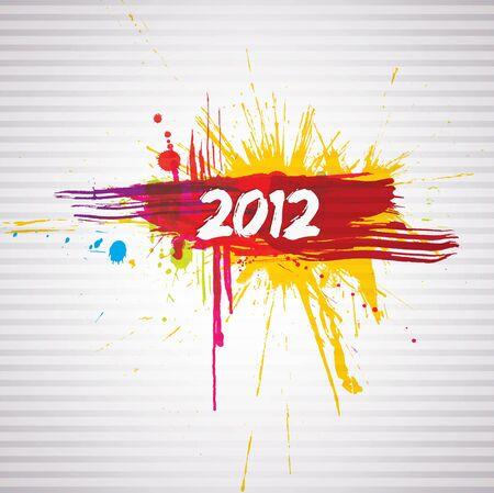 New year grunge design