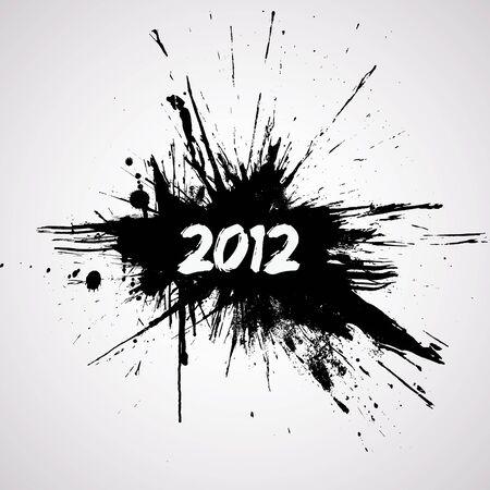 happy new year stamp: A�o nuevo dise�o grunge
