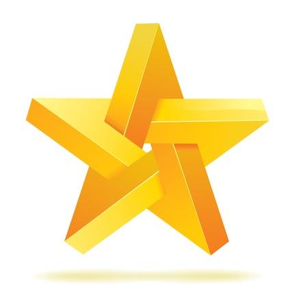 Unreal geometrical star Фото со стока - 10823660