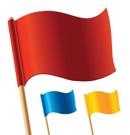 jelzÅ: Vector színes zászlók Illusztráció