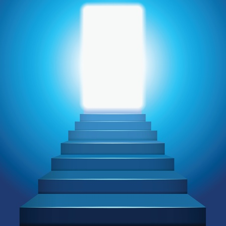 Stairway to heaven in the light. Vector